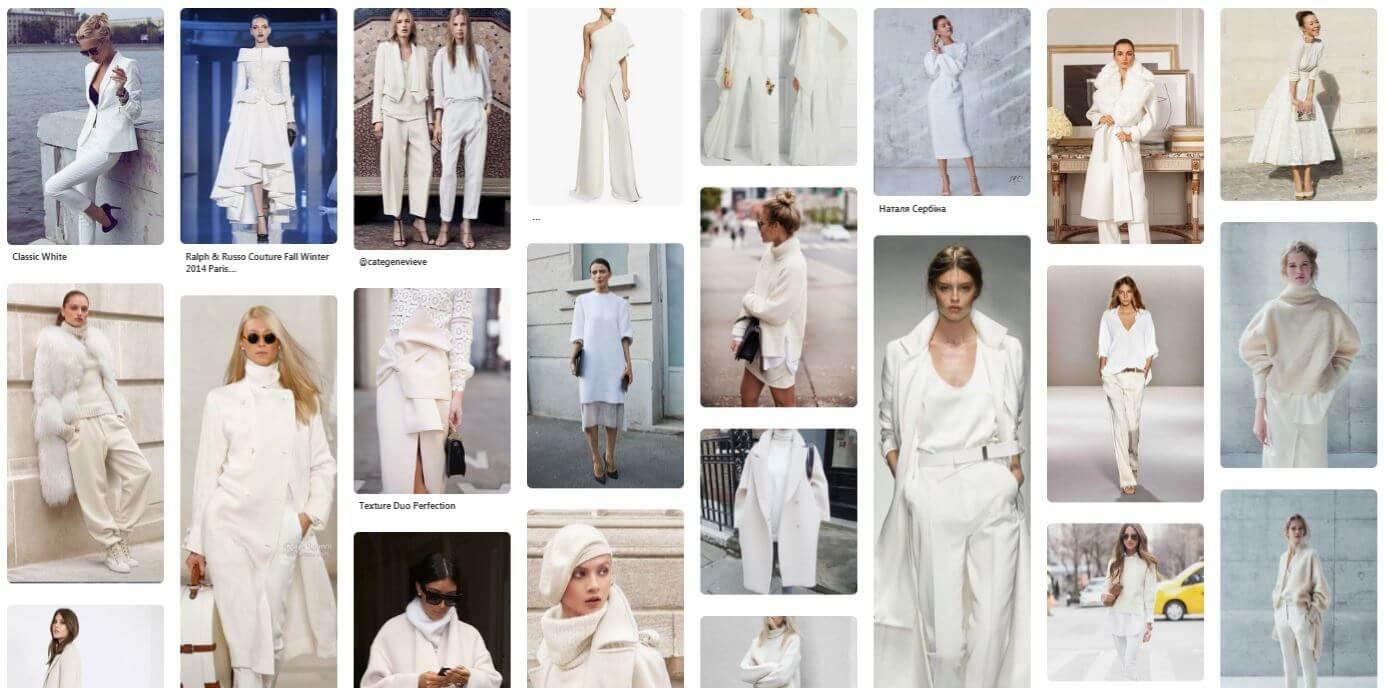 What We Want Wednesday Winter Whites Pinterest Fashion Board Screenshot