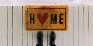 Home with Heart Welcome Mat